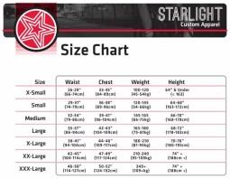 starlight size chart web